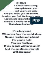 Hero Lyrics