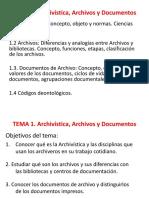 Tema 1 Archivistica Archivos y Documentos ALUMNOS