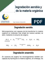 Clase 7. Degradación Aerobia y Anaerobia de La Materia Organica