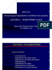 Lecture 4 - GIS Subsystems