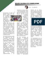 El Proceso Migratorio de Ciudadanos Venezolanos