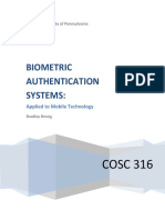 Biometric Authentication Systems -Brosig - Applied to Mobile Technology