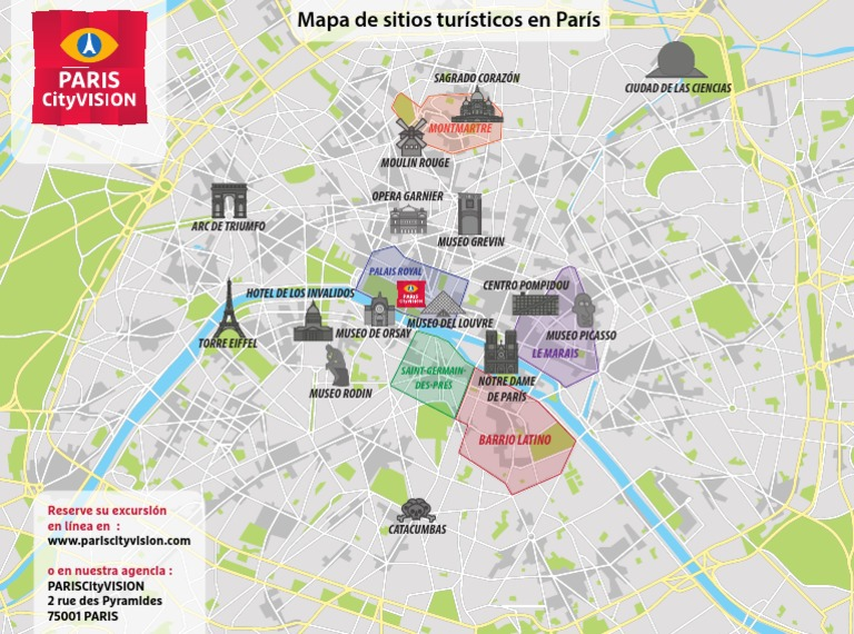 Barrio Latino Paris Mapa.Plano Touristico Paris