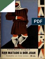 Han Matado Don Juan 3966 Oliv