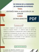 Criterios de Seleccion de Sensores
