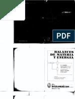 Balances de Materia y Energía