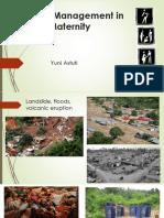 Disaster Management Maternal
