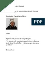 El Enigma Del Codigo Enigma 1MM1 Constantino Cadena Pablo Martin