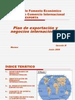 Plan de exportación y Negocios Internacionales 2009