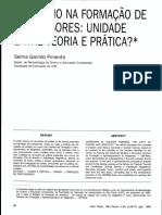 Pimenta, Selma_O estágio na formação de professores_unidade entre teoria e prática