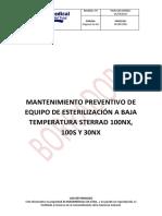 Procedimiento Mantenimientos Sterrad 100nx,100s y 30nx
