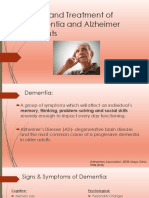 care and treatment of dementia and alzheimer patients