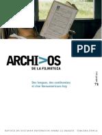 Arch Film 71 Dos Lenguas Dos Continentes El Cine Iberoamericano Hoy (2013)