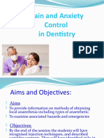 Pain and Anxiety Control in Dentistry