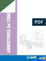 Lines Technical Document Admixtures for Concrete En
