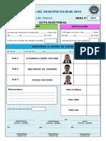 Acta Electoral 2018