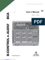 Behrinher B-Control BCA2000 Manual
