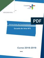 Instrucciones Escuela Arte 2018 DEFINITIVA