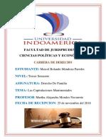 Maicol - Derecho de Familia - Las Capitulaciones Matrimoniales