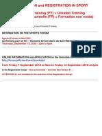 Sport - Application and Registration