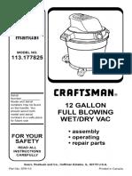 Craftsman Shop Vac Manual