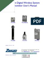 Zaxcom Digital Wireless Transmitters Man
