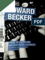 Manual de Escritura para científicos sociales  Becker