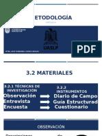 3.2 Materiales