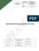 Procedimiento Para Movimiento de Tierra PRANCS 2017