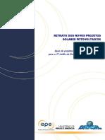Retrato Dos Novos Projetos Fotovoltaicos No Brasil