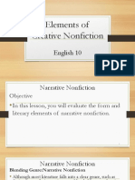 English 10 Elements of Creative Nonfiction