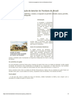 História Da Ocupação Do Interior Do Nordeste Do Brasil
