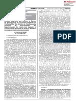 Decreto Supremo Que Declara El Estado de Emergencia en El Ce Decreto Supremo n 113 2018 Pcm 1716342 2