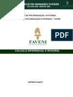 Apostila Cálculo Diferencial e Integral