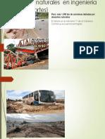 Catástrofes Naturales en Ingeniería Civil (Transportes)