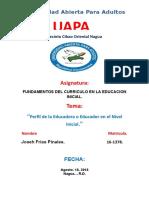Tarea 6 de Fundamentos Del Curriculo en La Educacion Inicial.