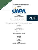 Diseño y Selección del proceso para Organizaciones de Clase Mundial