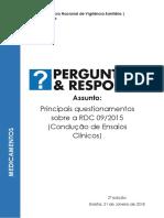 Perguntas e Respostas Sobre a RDC 09 de 2015 - 2ª Edição