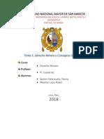 Monografia de Derecho Minero