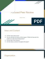 focused peer review