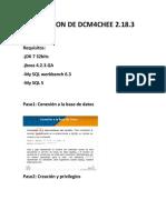 Instalacion de Dcm4chee 2.18.3