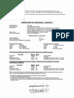 Diseño de Mezcla y Certificado de Control de Calidad de Concreto - Consorcio Mazamari
