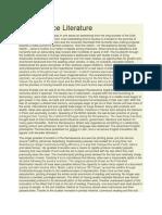 Renaissance Literature.docx