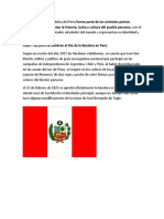 La Bandera de La República Del Perú