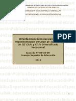 Orientaciones Técnicas Para La Implementación Del Plan de Estudios de III Ciclo y Ciclo Diversificado Vocacional_0-1