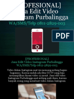 [PROFESIONAL] Jasa Edit Video Instagram Purbalingga, WA/SMS/Telp 0811-2829-003