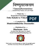 Srila Baladeva Vidyabhusana - Visnusahasranama.pdf