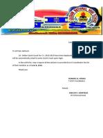 letter for text blast alert