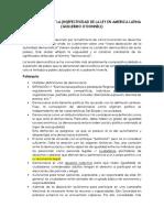 LAS POLIARQUIAS Y LA INEFECTIVIDAD DE LA LEY EN AMERICA LATINA (RESUMEN)
