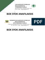 Bos Syok Anafilaktik
